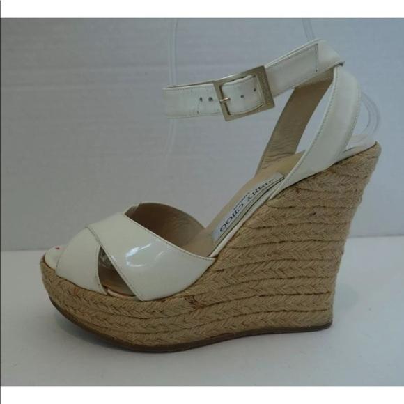 7f6ed4d5c0c Jimmy Choo Shoes - JIMMY CHOO White Patent Leather Phoenix Espadrille